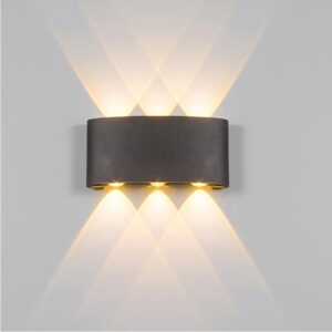 2W 4W 6W 8W LED Wall Light Outdoor Waterproof Modern Nordic style Indoor Wall Lamps Living Room Porch Garden Lamp AC90 260V (NL-1004) 1