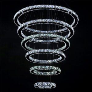8 Rings Modern Crystal Luxurious Chandeliers 2