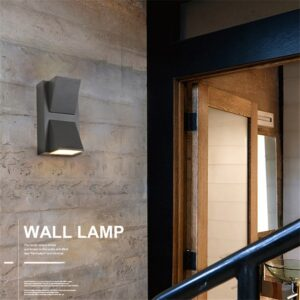 3W 6W Modern simple creative outdoor waterproof wall lamp LED courtyard lamps gate lamp terrace balcony garden wall light 2