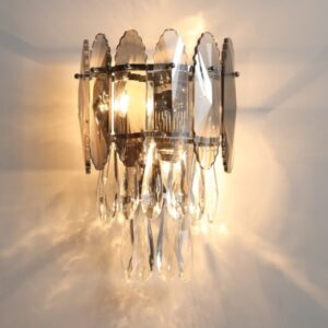 Modern Crystal LED Wall Lamp Home Deco Gold Metal Living Room Bedroom Aisle Wall Sconce E14 G9 Bulb Surface Mount Dropshipping 1