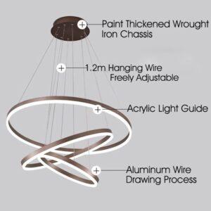 Ac 110v 220v Led Pendant Lights For Home Kitchen Living Dining Room Diy Hanging Light Circle Rings Lamp Indoor Lighting Fixtures 2