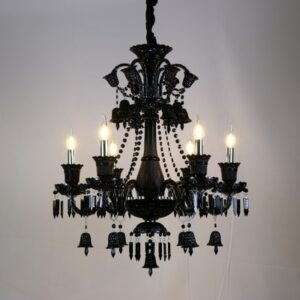 Crystal Chandelier Black crystal Candle Chandeliers 1