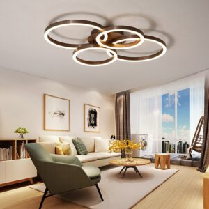 led Ceiling light Round living room lamp simple modern home dining room lamp bedroom lamp creative Nordic aluminum lamp 1