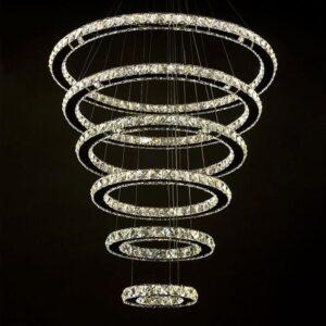8 Rings Modern Crystal Luxurious Chandeliers 1