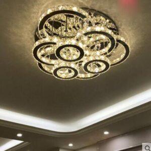 Circular ceiling lamp led creative crystal lamp Chandelier 1