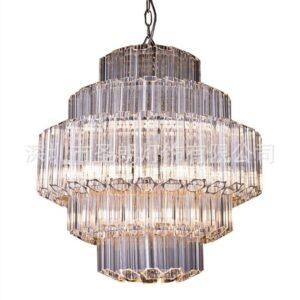 Plum blossom glass rod chandelier RH American modern minimalist retro luxury designer soft decoration villa lamp 4