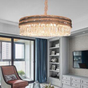 Postmodern LED Luxury Luminaires Round Chandelier Bedroom Living Room Dining Hanging Lamp Creative Crystal Chandelier Lighting 1