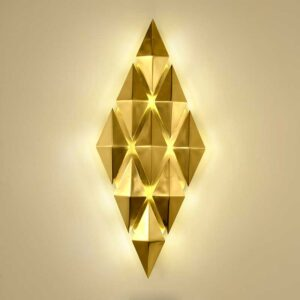 Luxury Gold Metal Led Wall Lamp Wall Scones 1