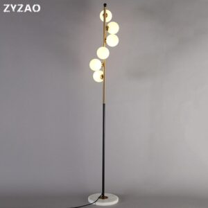 Modern LED Living Room Decor Standing Lamps Nordic Bedroom Bedside Lights Fixtures Simple Glass Ball Floor Lamps Led Stand Light 1