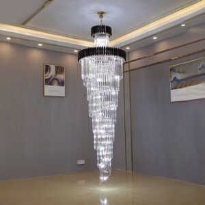 Crystal Led Chandeliers Multi-layer Staircase Lighting 1