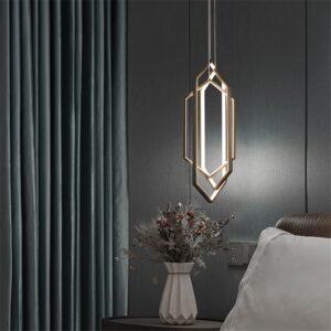 Nordic Geometric Shaped Pendant Lamps Modern Luxury Bedroom Bedside Living Room Background Dining Room Art Deco Pendant Lights 3