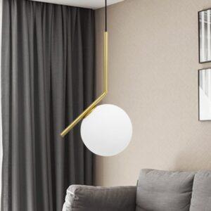 Nordic Glass ball pendant lights living room pendant lamp 1
