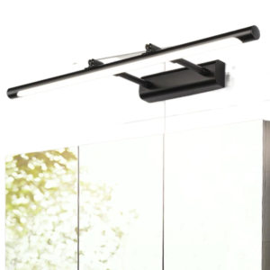 Cabinet Dressing Wall Mirror Lamp Sleek Offset from Wall