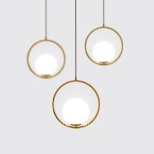 Nordic bedroom bedside modern light luxury pendant lamp 1