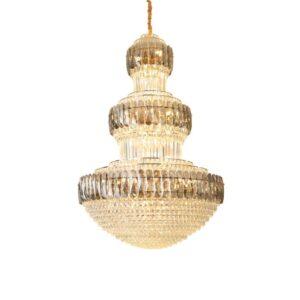 Luxury Modern Chandelier Lighting traditional Duplex Crystal Pendant 4