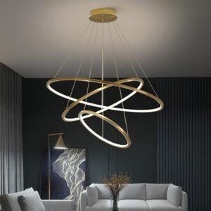Modern Staircase Chandelier Lighting LED geometric Lamp 1