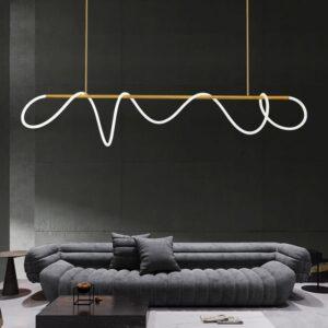 Nordic Minimalist LED Pendant Light Modern Brass LED Hanging Lamp LOFT Dining Room Living Room Home Deco Lighting Fixtures 1