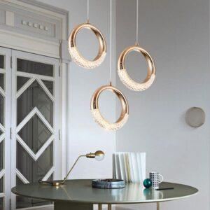 Modern Ring Round Hanging Nordic Indoor Pendant Lamp 1