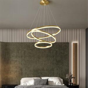 Modern Pendant Lamp Led Rings Circle Ceiling Hanging Chandelier 1