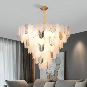 Modern simplicity Villa living room lights Atmospheric glass chandelier Bedroom lamp study lamp restaurant lighting 1